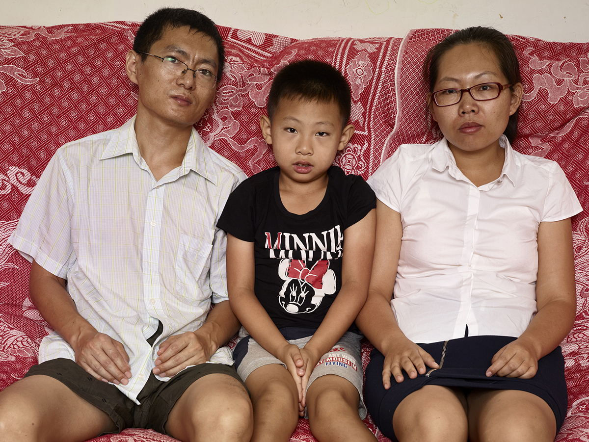 - Lucia and her family, Beijing, 2015-16,