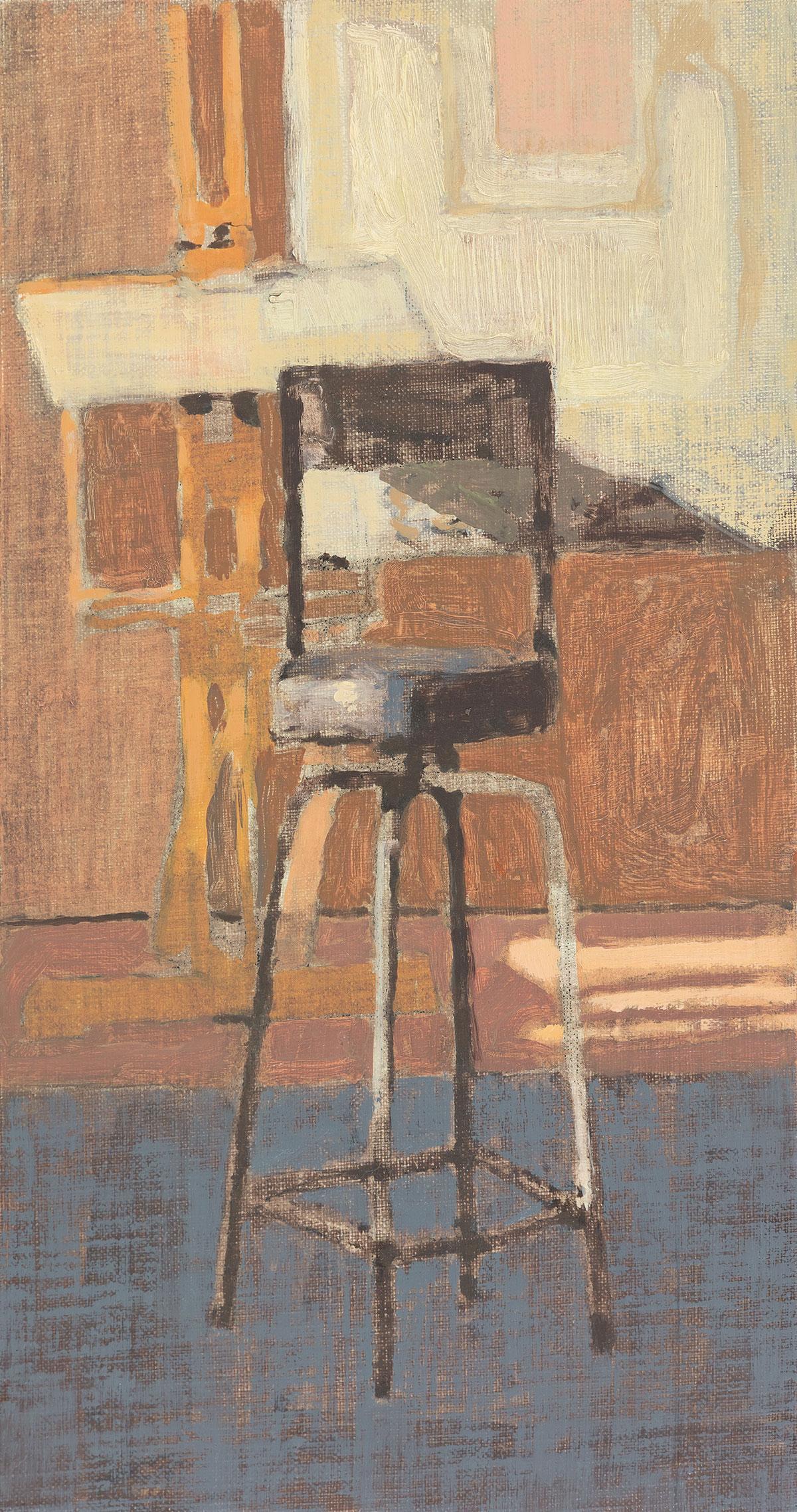 - Studio with Blue Floor, 2017