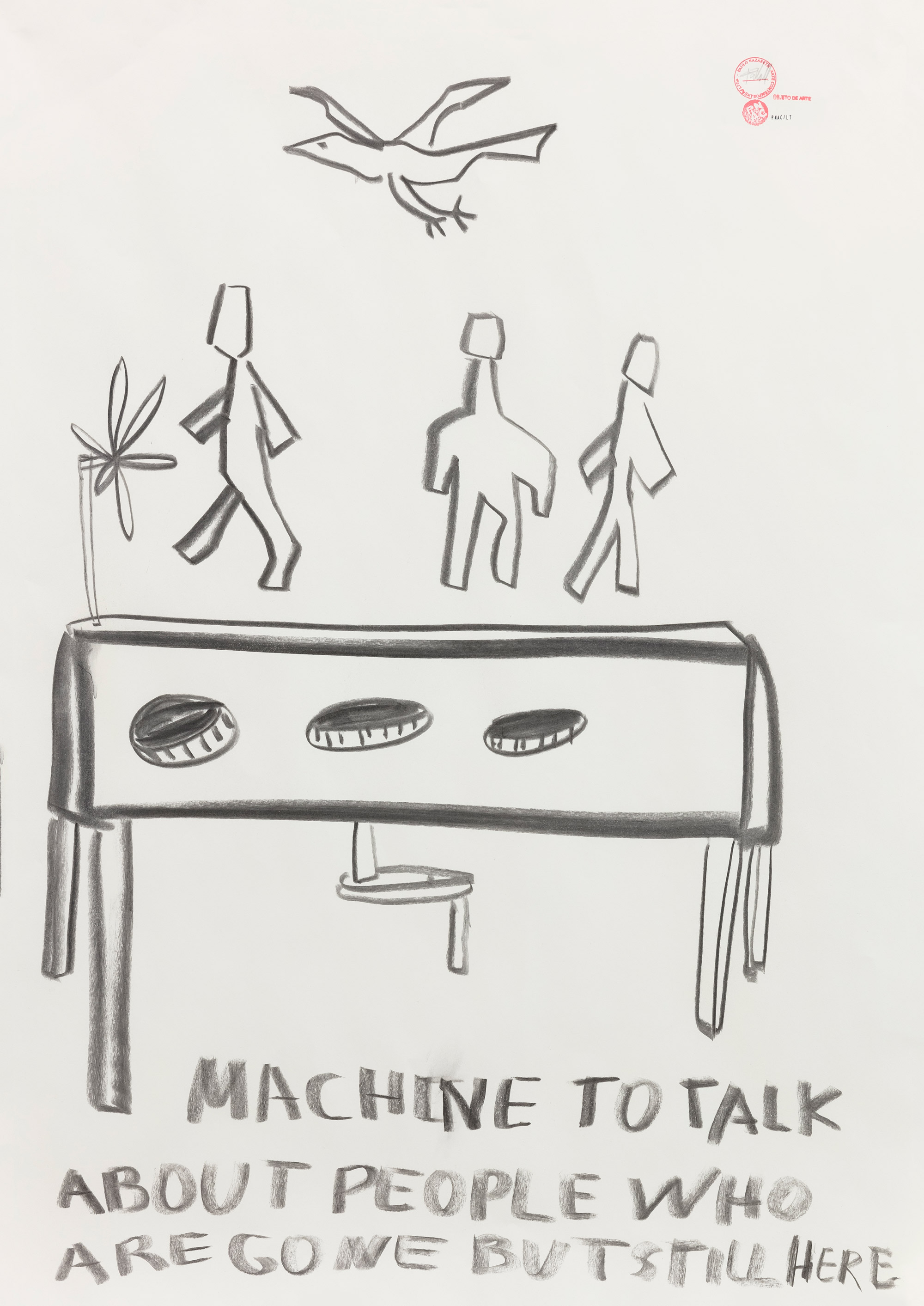 - MACHINE TO TALK ABOUT PEOPLE WHO ARE GONE BUT ARE STILL HERE, 2019