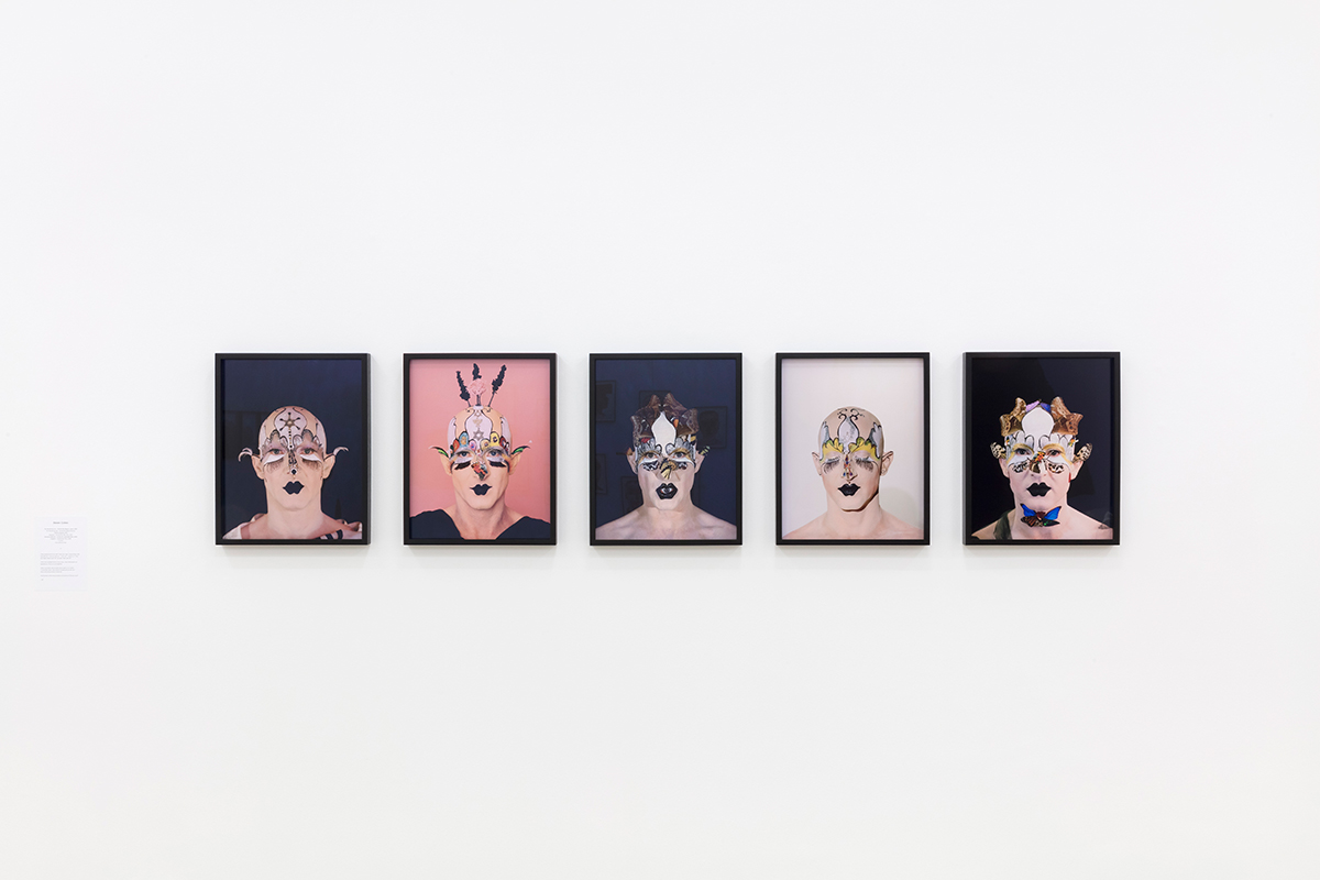 Installation view with works by Steven Cohen