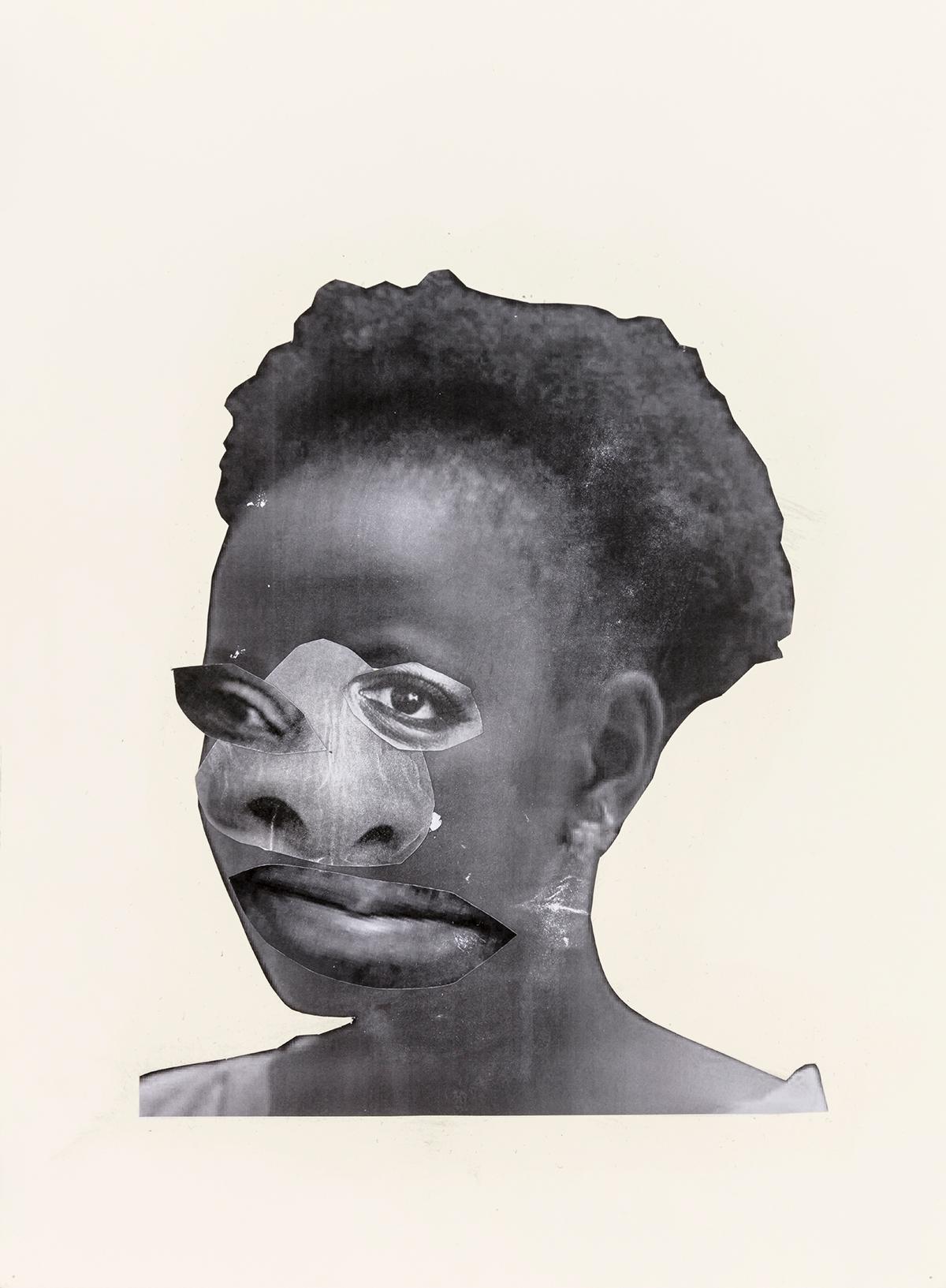 Neo Matloga - Black Collages, 2018