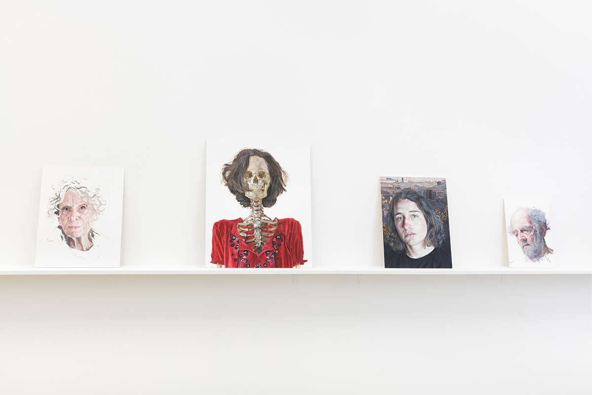 Installation view with works by Deborah Poynton