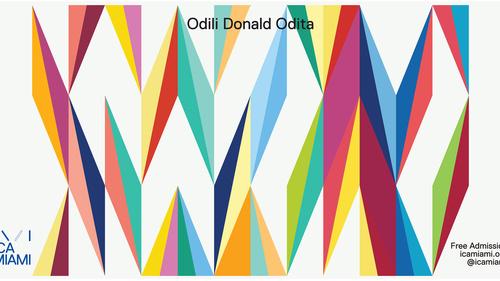 Odili Donald Odita mural in Miami