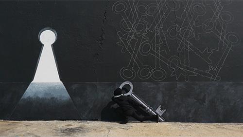 Robin Rhode at Kamel Mennour