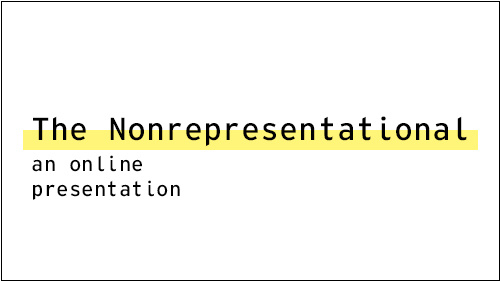 The Nonrepresentational