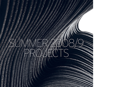 Summer 2008/9: Projects