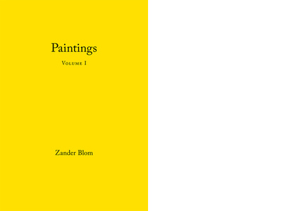 Paintings Volume I