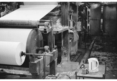 Toilet paper factory shopfloor, Maseru industrial area