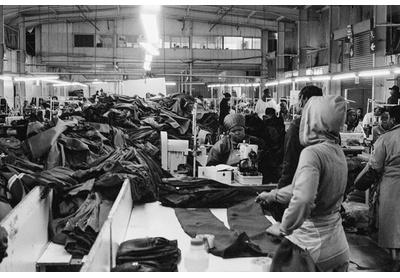 Workwear factory shopfloor, Thetsane industrial area, Maseru