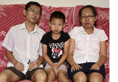 Lucia and her family, Beijing, 2015-16