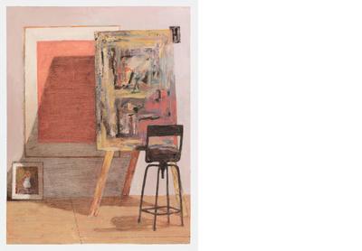 Studio with Portrait of Miles
