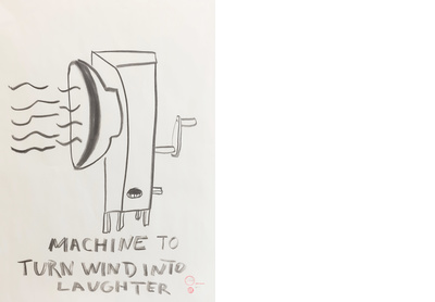 MACHINE TO TURN WIND INTO LAUGHTER