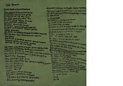Dis Poem (after Mutabaruka)