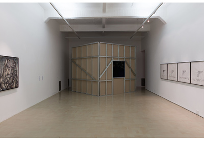 Installation view with works by Mmakgabo Helen Sebidi, Unathi Sigenu, and Robin Rhode, Stevenson, Cape Town