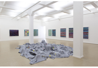 Installation view with Veiled Landscape