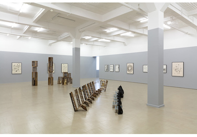 Installation view with Matric 2015 (foreground)