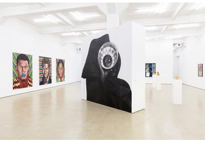 Installation view with works by Mustafa Maluka and Zanele Muholi