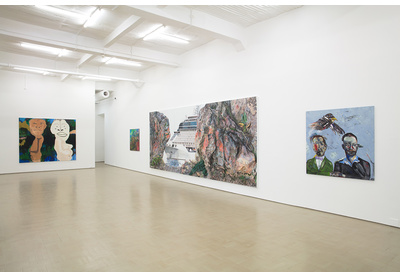 18.04 Installation view with works by Moshekwa Langa, Anna Boghiguian, Deborah Poynton and Breyten Breytenbach