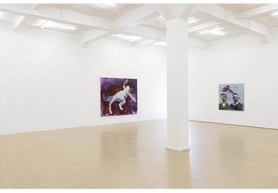 15.03 Installation view with works by Portia Zvavahera and Breyten Breytenbach