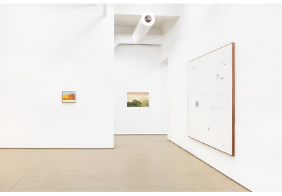 19.03 Installation view with works by Etel Adnan, Mduduzi Xakaza and Jared Ginsberg