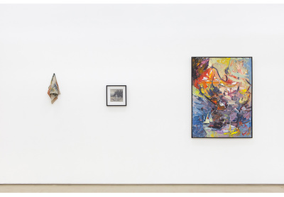 03.04 Installation view with works by Gabrielle Sanson, Rory Emmett and Olu Ajayi