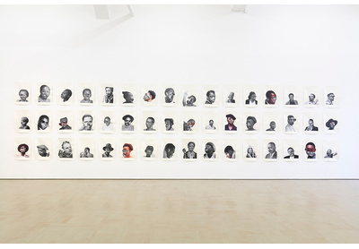 Neo Matloga, Black Collages, installation view