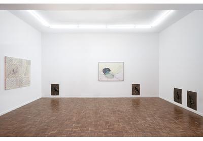 Installation view with works by Turiya Magadlela, Unathi Sigenu and Penny Siopis, Stevenson, Johannesburg